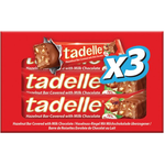 Tadelle Hazelnut Bar Covered W Milk Choc 90g 3pk