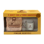 Mehmet Efendi Turkish Coffee W/Free Coffee Cup 3x100gr