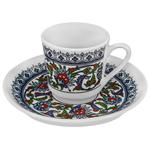 Gural Porselen Topkapi Series Turkish Coffee Set of 6