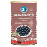 Marmara Birlik Gemlik Black Olives M Super 800Gr Can