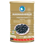 Marmara Birlik Gemlik Black Olives XL Mega 800Gr Can
