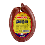 Merve Beef Soujouk Mild Round 1Lb