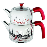 Mimar Sinan Tea Pot Istanbul Desenli