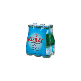 Kizilay Mineral Water 200Ml Glass  (6 pack)